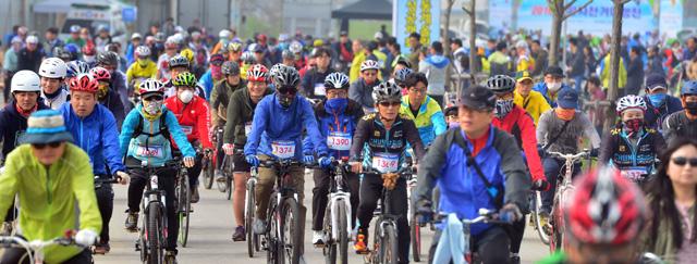 ▲ 2016 강원자전거 대행진 모습