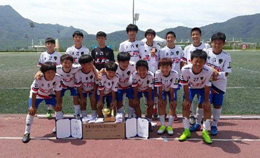 ▲ '금강배 리틀K리그' 2그룹 U-15 2조 경기에서 전승 우승을 차지한 JL FC팀.