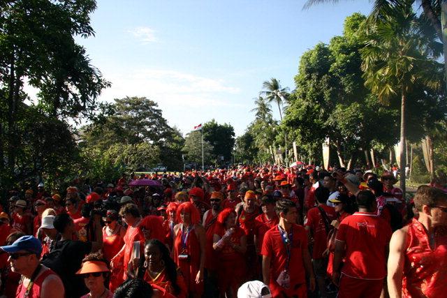 ▲ 지난해 인도네시아 발리에서 열린 해쉬대회  '레드 드레스런' 모습