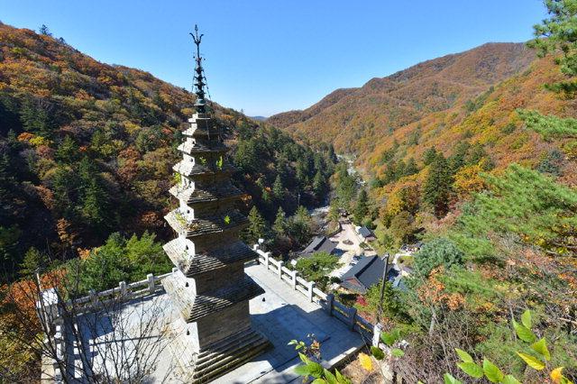 ▲ 국보 승격이 추진되고 있는 정선 정암사 '수마노탑'은 보물 제410호다.