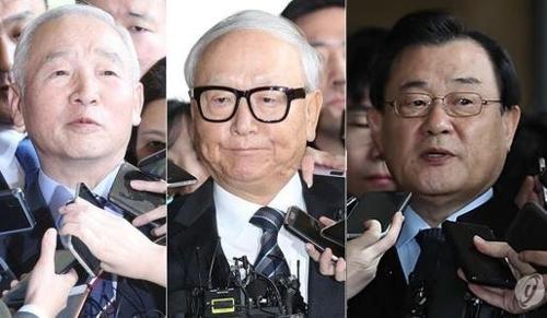 ▲ 남재준 이병호 이병기 전 국정원장