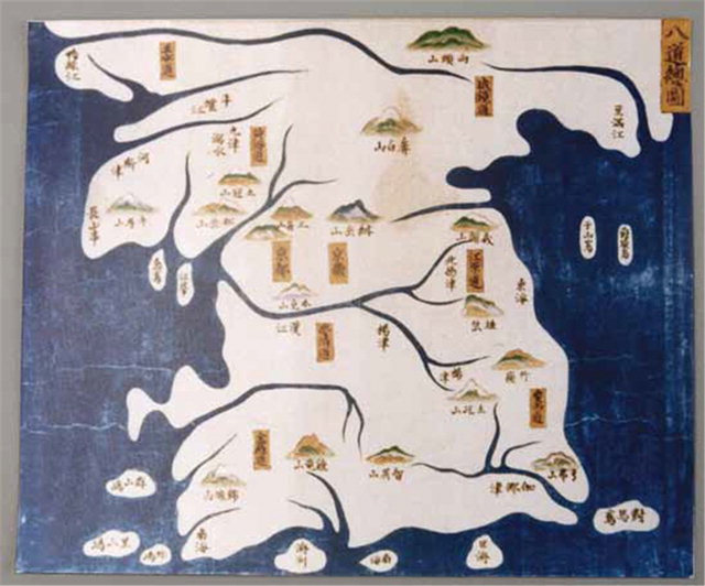 ▲ 조선국지리도(일본 1952년).도요토미 히데요시가 조선 침략을 위해 제작한 지도로 울릉도·독도(우산도)를 조선의 영토로 표기했다.