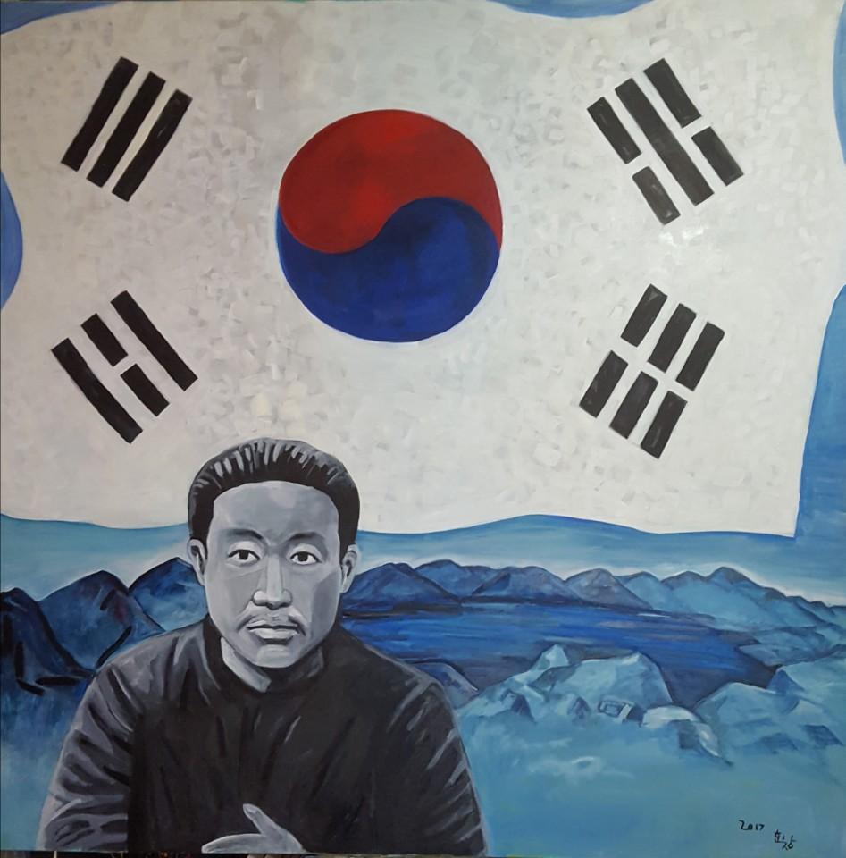 ▲ 황효창 작 '나라를 지킨 사람'