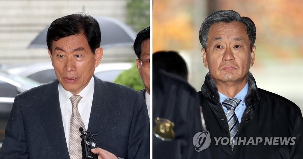 ▲ 원세훈 전 국정원장(왼쪽)과 이종명 전 3차장(오른쪽)
