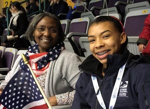 ▲ 미국 피겨스케이팅 여자 싱글 선수 스타 앤드루스(오른쪽)  사진출처 앤드루스 인스타그램