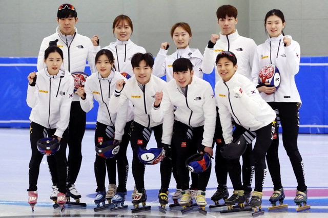 ▲ 대한민국 쇼트트랙 국가대표 선수단.