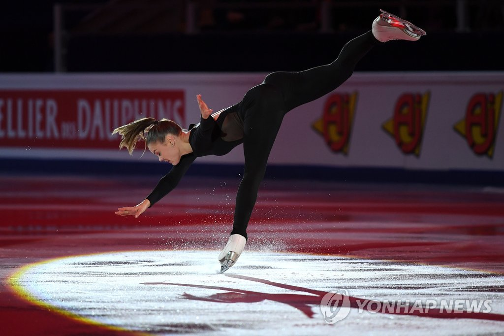 ▲ Belgium's Loena Hendrickx performs during the Gala Exhibition at the ISU European Figure Skating Championships in Moscow on January 21, 2018. / AFP PHOTO / Yuri KADOBNOV