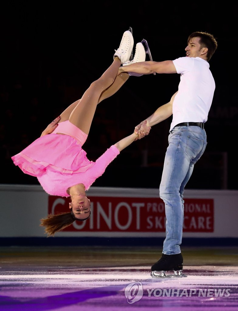 ▲ Figure Skating - ISU European Championships 2018 - Exhibition Gala - Moscow, Russia - January 21, 2018 - Valentina Marchei and Ondrej Hotarek of Italy perform. REUTERS/Maxim Shemetov