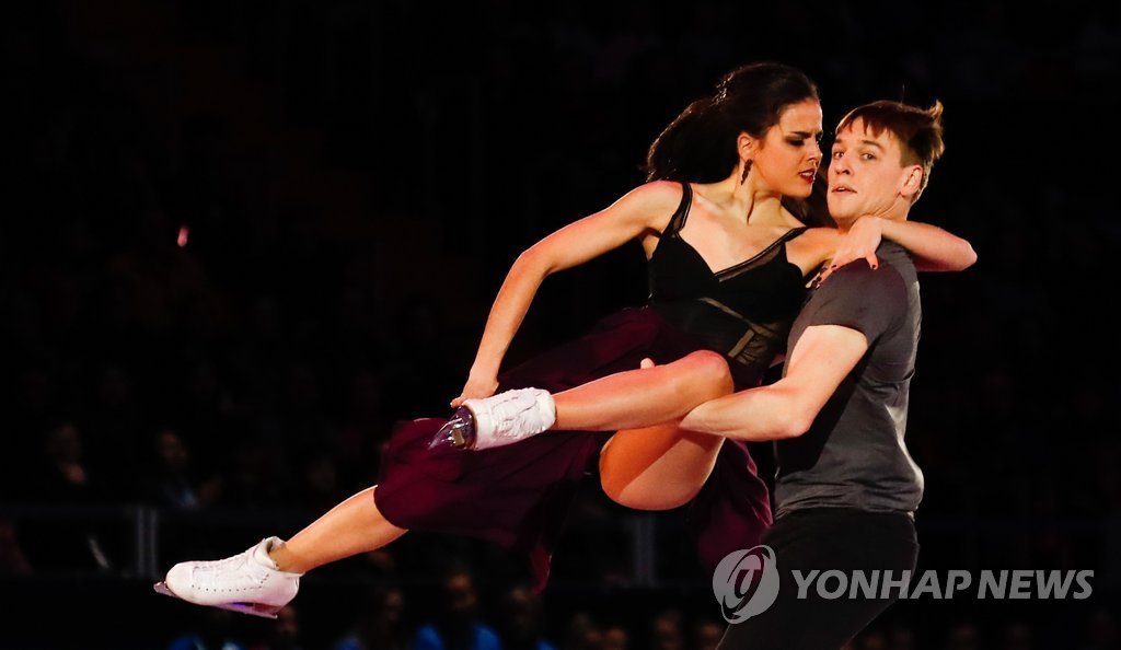 ▲ Figure Skating - ISU European Championships 2018 - Exhibition Gala - Moscow, Russia - January 21, 2018 - Sara Hurtado and Kirill Khaliavin of Spain perform. REUTERS/Maxim Shemetov
