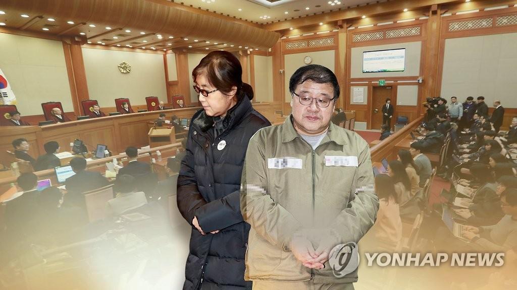 ▲ '국정농단' 최순실·안종범