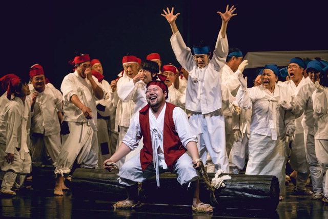 ▲ 양양문화예술단의 연극'손님'이 지난 18일 강릉아트센터에서 공연됐다.