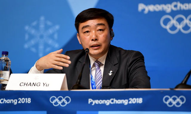 ▲ 2022베이징올림픽조직위원회 창위(常宇)대변인 (신문선전부 부장).