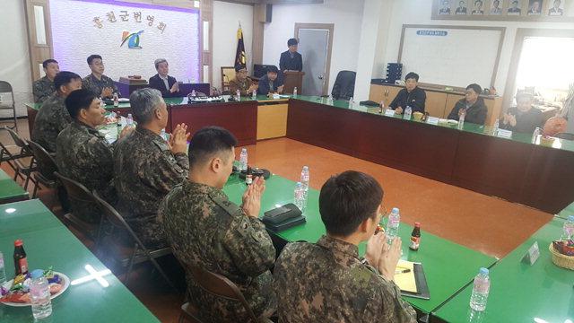 ▲ 홍천군번영회는 12일 번영회 사무실에서 민관군 상생 간담회를 개최했다.