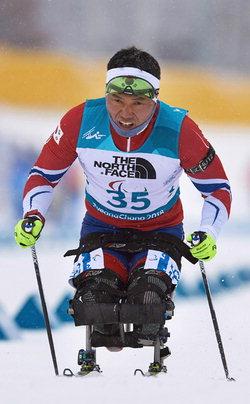 ▲ 지난 3월 열렸던 평창 동계패럴림픽에서 금메달을 딴 장애인 노르딕스키 신의현 선수.