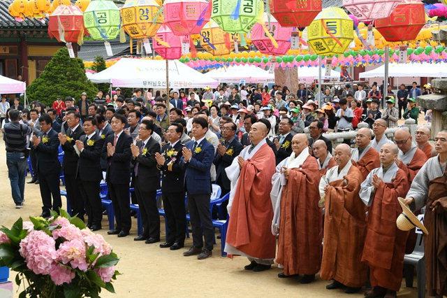 ▲ 월정사 오대산 월정사의 불기 2562년 부처님 오신날 봉축법요식이 22일 월정사 적광전 광장에서 열렸다.