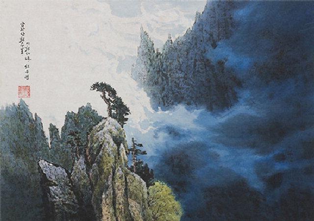 ▲ 선우영 작,금강산천주봉(2004).
