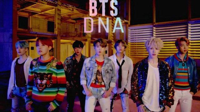 ▲ 방탄소년단 'DNA' 뮤직비디오.
