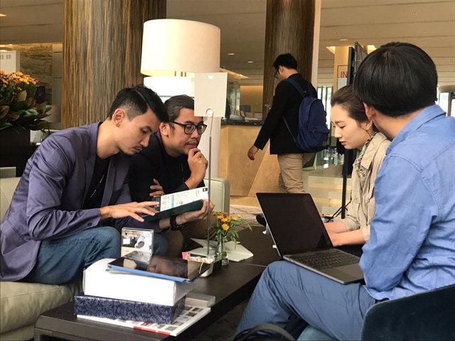 ▲ 강원영상위원회 관계자가 9일 해운대 파라다이스 호텔에서 열린 '링크 오브 시네 아시아'에서 말레이시아 영화 관계자와 비즈니스 미팅을 진행하고 있다.