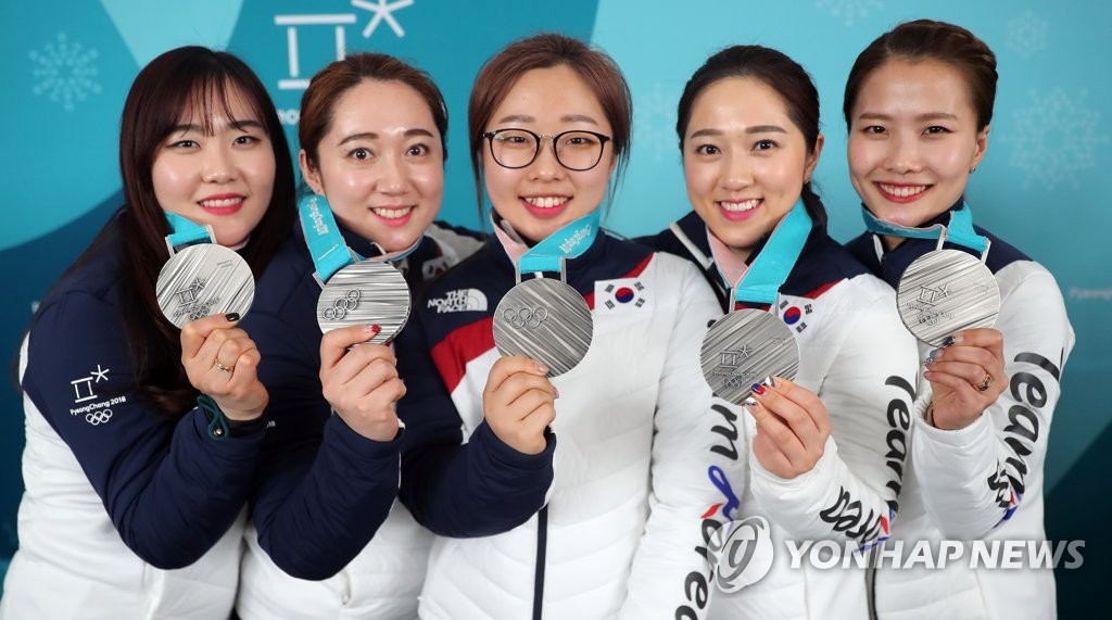 ▲ 여자컬링 평창올림픽 은메달