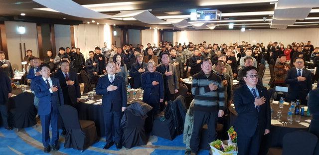 ▲ 강원도 축구인의 날 행사가 6일 강릉 스카이베이 경포호텔에서 열렸다.