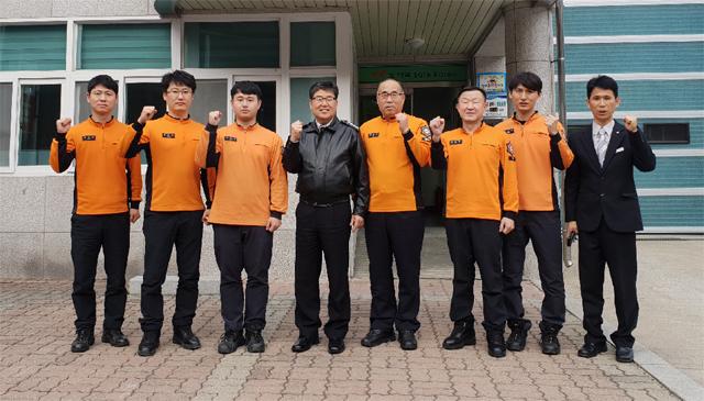 ▲ 이수남 태백소방서장은 지난 9일 지역 119안전센터와 구조대를 방문해 직원들의 애로사항을 청취하고 격려했다.