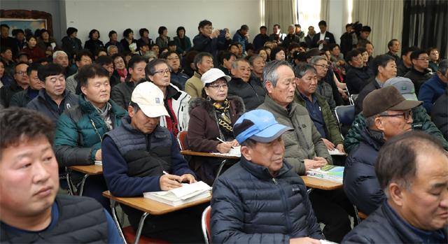 ▲ 강릉시는 10일 강릉농업기술센터에서 730명의 농업인을 대상으로 새해 농업인 실용교육을 실시했다.
