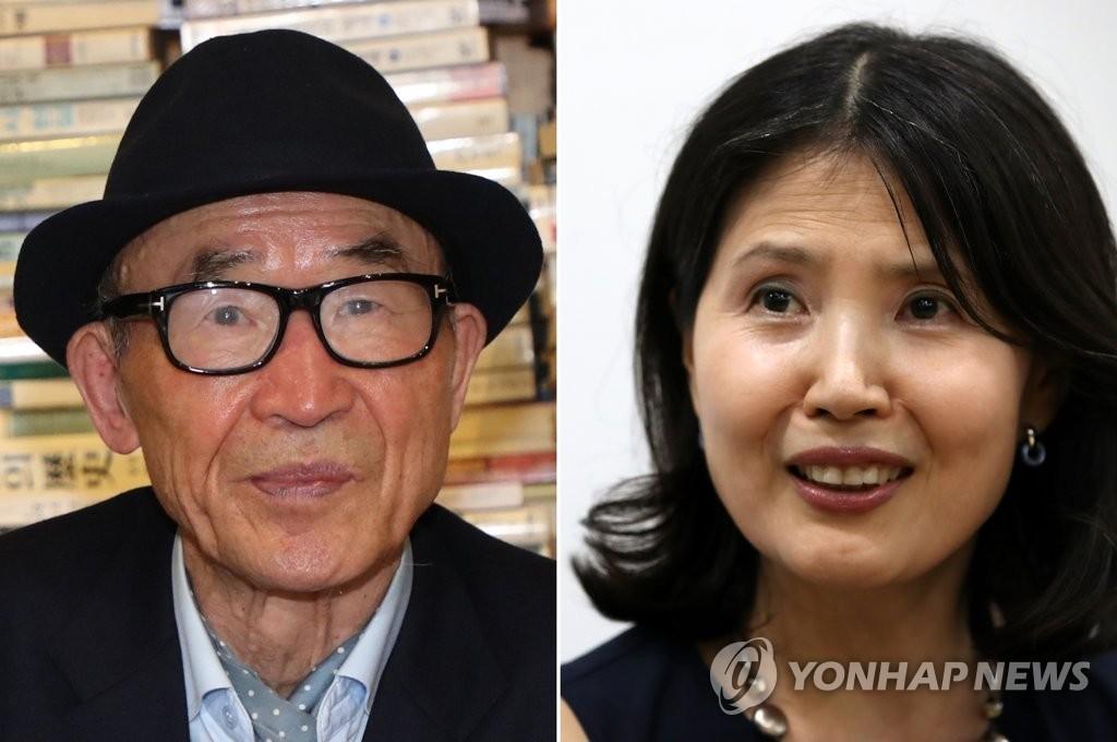 ▲ 고은 시인(왼쪽)과 최영미 시인 [연합뉴스 자료사진]
