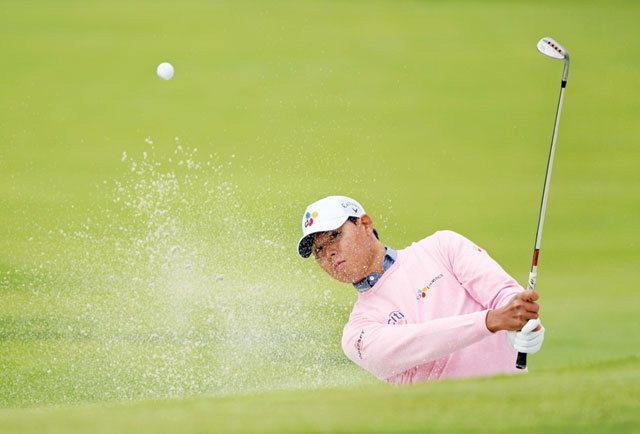 ▲ 미국 캘리포니아주에서 열린 PGA투어 제네시스 오픈대회에 참가한 김시우가 대회 마지막날인 18일  4라운드에서 5언더파 66타를 기록하며 단독 3위로 경기를 마쳤다.
