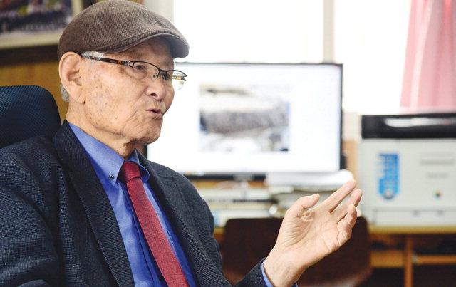 ▲ 김창묵 회장은 본지와의 인터뷰에서 젊은이들이 올바른 역사의식 가져야 한다고 말했다.  김명준