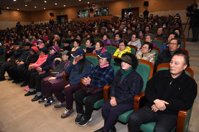 ▲ 노인일자리 사업 발대식이 13일 오후 백운아트홀에서 열렸다.