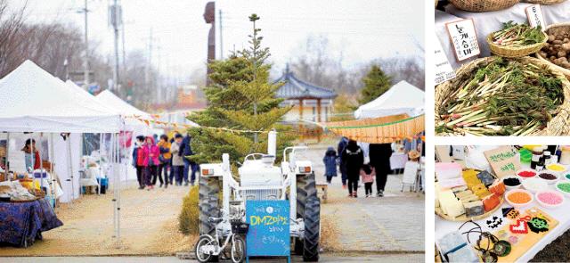 ▲ 철원지역의 명품 농특산물과 가공품을 만날 수 있는 철원DMZ마켓이 4월부터 11월까지 매주 토요일 철원 노동당사  광장에서 열린다.