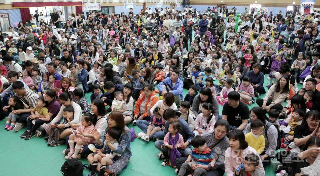 ▲ 22회 양구군 어린이 한마음 페스티벌이 9일 문화체육회관에서 지역 어린이들이 참가한 가운데 열렸다.