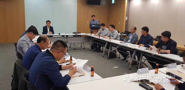 ▲ 농협 강원지역본부(본부장 함용문)는 16일 NH농협은행 본관 3층 소회의실에서 쌀 공급과잉에 대응하기 위한 강원 RPC운영농협 장장 업무협의회를 개최했다