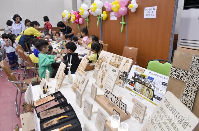 ▲ 삼척 사회적경제기업 프리마켓이 22일 시청 시민회의장에서 시사회적경제네트워크(대표 양호선) 주관으로 열렸다.