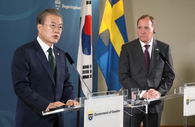▲ 문 대통령, 스웨덴 총리와 공동회견
