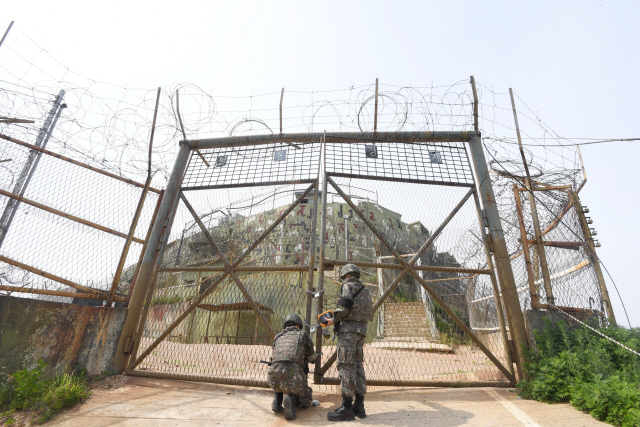 ▲ 한국전쟁 이후 설치된 감시초소(GP) 가운데 처음으로 등록문화재 제752호로 지정된 '고성 최동북단 감시초소' 모습.    최유진