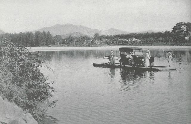 ▲ 고성군 수동면에서 동해로 빠져나가는 남강의 옛 전경.  출처/서양인이 본 금강산