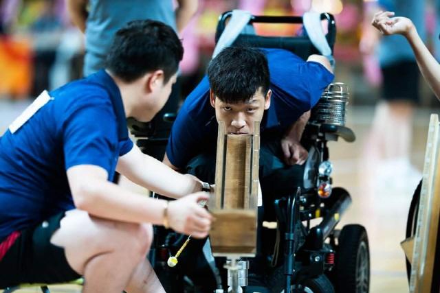 ▲ 강원도장애인체육회 정호원(BC3) 선수의 경기모습