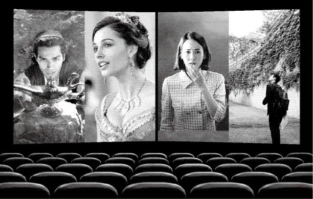 ▲ 디즈니 실사영화 '알라딘'(사진 왼쪽)과 칸영화제 황금종려상 수상 영화 '기생충'