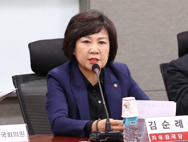 30일 오후 국회의원회관에서 열린 '북한에 억류된 대한민국 국민의 인권, 어떻게 지켜야 하나?' 징검다리정책토론회에서 자유한국당 김순례 의원이 발언하고 있다.