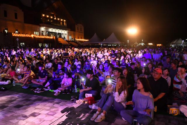 ▲ '정선 가리왕산 뮤직페스티벌'이 지난 16일부터 17일까지 동계올림픽 유산인 가리왕산 '정선알파인센터'에서 열렸다.