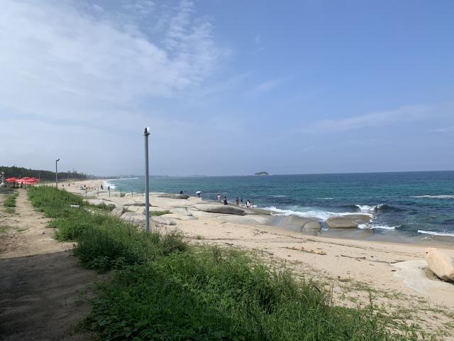▲ 해안철책이 사라진 장사 해변.
