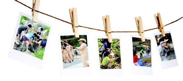 ▲ 왼쪽 사진부터 민물고기잡기,하추리 도리깨놀이,감자캐기,도리깨질,아궁이가마솥밥짓기 체험
