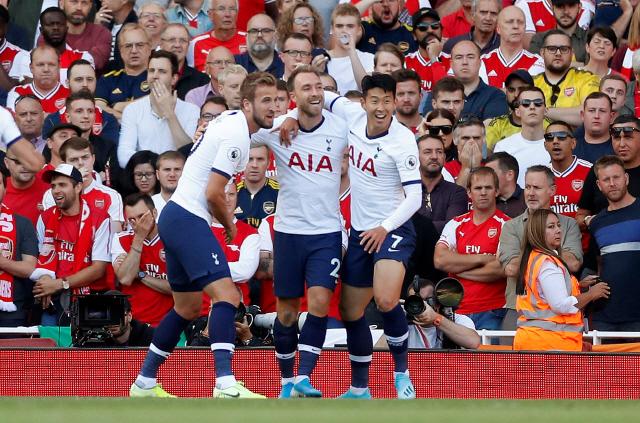 ▲ 손흥민은 2일(한국시간) 영국 런던의 에미레이츠 스타디움에서 열린 아스널과의 2019-2020시즌 잉글랜드 프리미어리그 4라운드 원정 경기에 선발로 출전해 후반 34분 조반니 로 셀소와 교체될 때까지 뛰었다.
