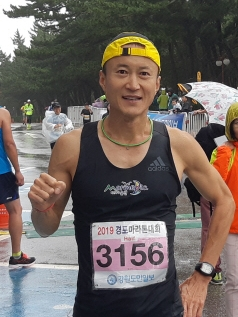 ▲ 하프코스 남자부문 우승자 장성연 씨
