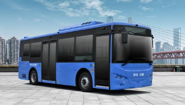 ▲ 오는 20일쯤 횡성지역 버스노선에 도입될 예정인 친환경 저상 전기버스.