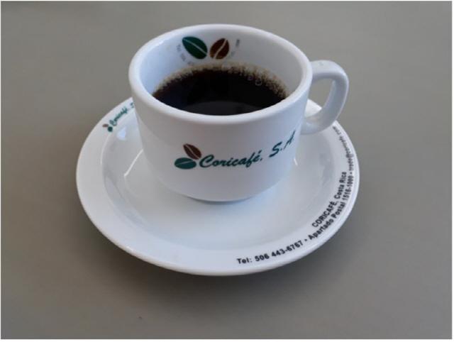 ▲ 코스타리카 카페에서 제공하는 커피.