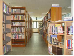 ▲ 민족사관고 도서관 전경사진.