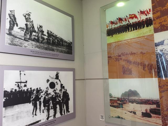 ▲ 베트남 다낭에서 운영 중인 전쟁박물관에 월남전 당시 참전한 한국군의 사진이 걸려 있다.