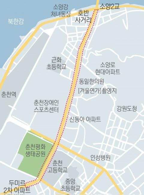 ▲ ■ 도로계획 수정 구간